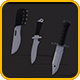 Low Poly Combat Knives Pack - 3DOcean Item for Sale