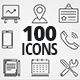 100 Clean Line Icons Pack - VideoHive Item for Sale