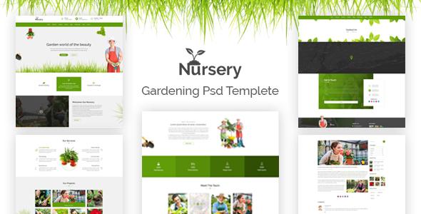 Nursery - Gardening PSD Template