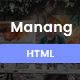 Manang - One Page Parallax - ThemeForest Item for Sale