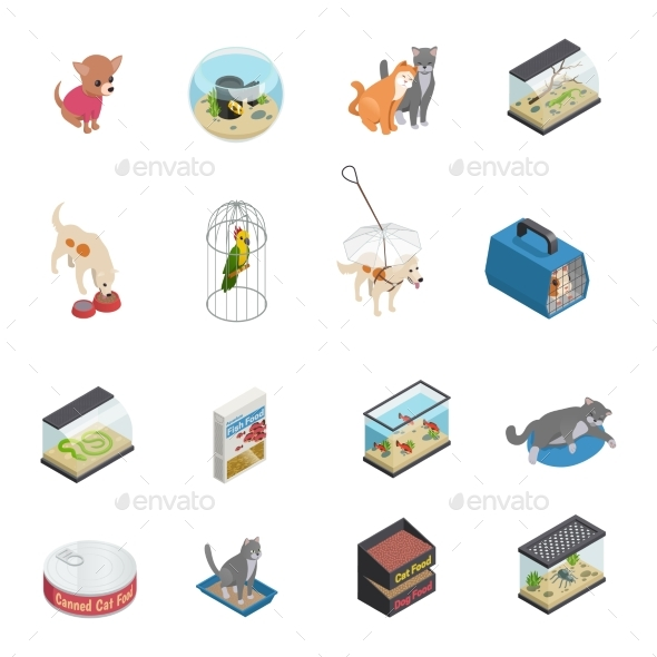 Pet Shop Icons Set