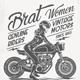 Brat Women Genuine Riders T-Shirt - GraphicRiver Item for Sale