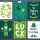 12 Patrick Cards + 3 Seamless Patterns - GraphicRiver Item for Sale