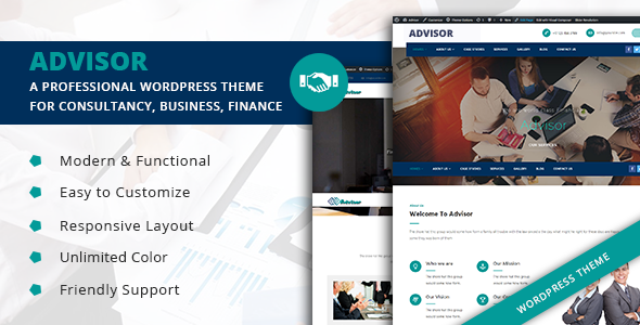 Advisor  - Startup Business & Digital Marketing WordPress Theme