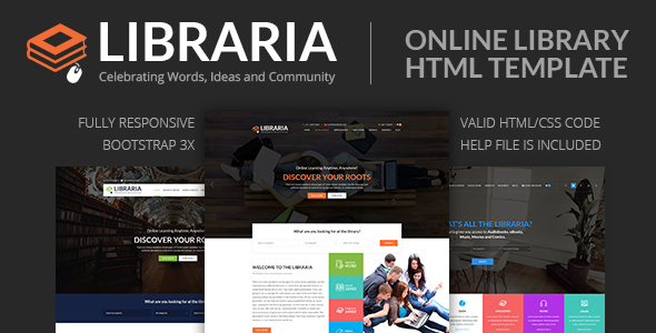 LIBRARIA – Online Library HTML Template