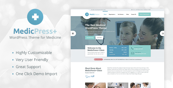 MedicPress - Medical WordPress Theme for Clinics and Private Doctors