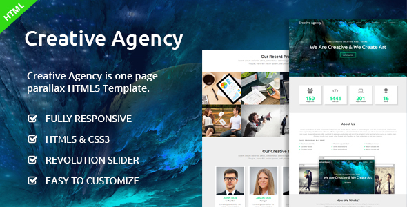 Creative Agency - One Page Agency Template