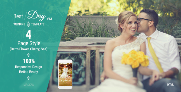 Best Day - Responsive One-Page Wedding Template