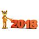Dog End Volumetric Figures 2018 - GraphicRiver Item for Sale