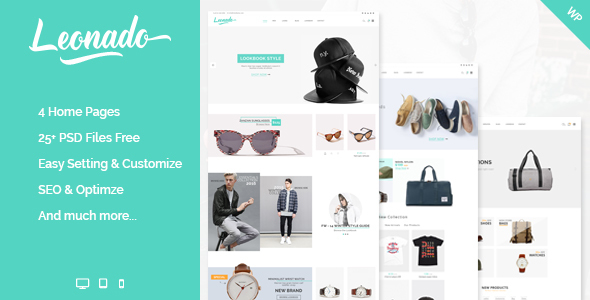 Leonado - Multi-Concepts WooCommerce WordPress Theme