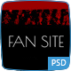 FanSite - Rock Music Media Photoshop - ThemeForest Item for Sale