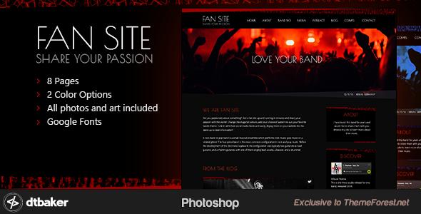 FanSite - Rock Music Media Photoshop