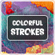 Colorful Strokes Backgrounds - GraphicRiver Item for Sale