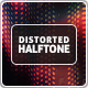 Distorted Halftone Backgrounds - GraphicRiver Item for Sale