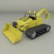 Tractor Backhoe - 3DOcean Item for Sale