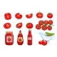 Set Red Tomato Vegetables Sauce - GraphicRiver Item for Sale