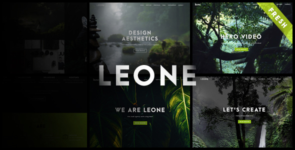 Leone - One Page Multi Purpose WordPress Theme