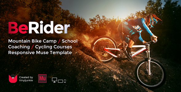 BeRider - Mountain Bike School / MTB Camp / Cycling Courses Responsive Muse Template