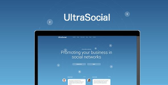 UltraSocial - Social Media Marketing Onepage / Landing Page Template