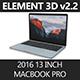"""Element3D 2016 MacBook Pro 13"""" - 3DOcean Item for Sale"""