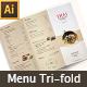 Thai Menu Tri-fold Brochures - GraphicRiver Item for Sale