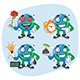 Set Characters Earth Part 1 - GraphicRiver Item for Sale