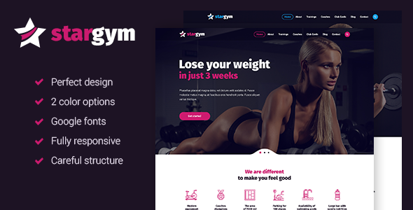Stargym - Fitness Sport Club and Gym HTML5 Template
