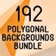 192 Polygonal Backgrounds Bundle - GraphicRiver Item for Sale