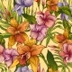 Vector Vintage Floral Tropical Seamless Pattern - GraphicRiver Item for Sale