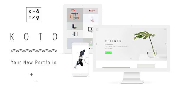 Koto - Artist and Designer Portfolio Theme