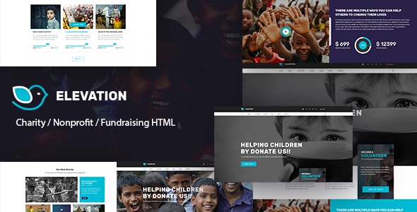 ELEVATION - Charity / Nonprofit / Fundraising HTML5 Template