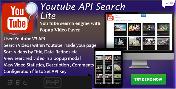 YouTube Api Plugins, Code & Scripts from CodeCanyon
