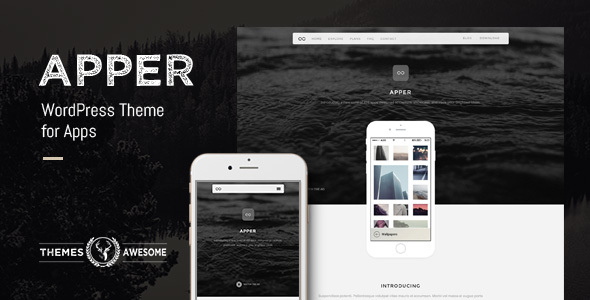 Apper - WordPress Theme for Apps
