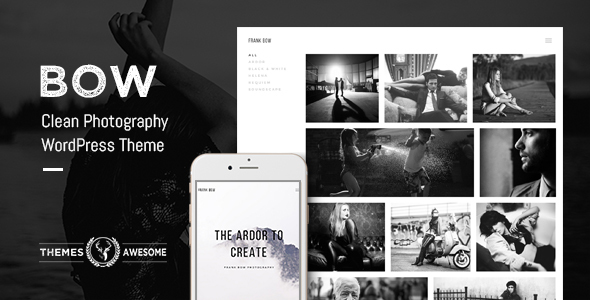 Bow - Clean Photography Portfolio Theme Download