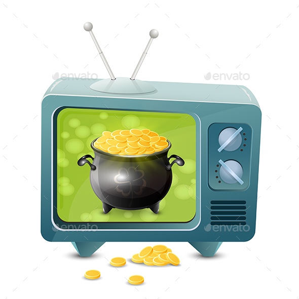 Patrick Day TV with Golden Coins