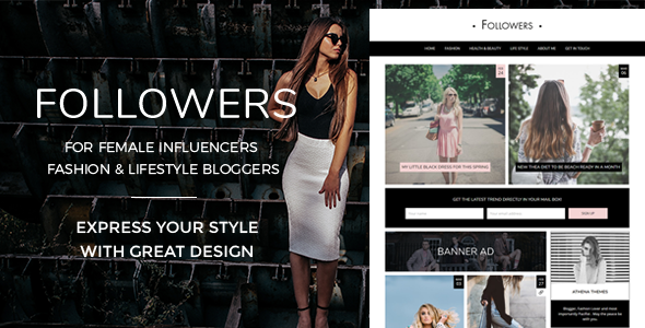 Followers - Fashion & Lifestyle WordPress Blog Theme for Social Media Influencers