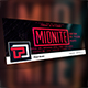 Midnite Facebook Cover Template - GraphicRiver Item for Sale
