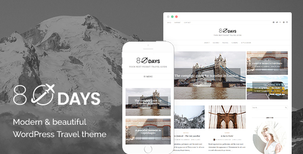 EightyDays - A WordPress Theme For Travel Blogs