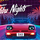 Out Run 80's Synthwave Flyer - GraphicRiver Item for Sale