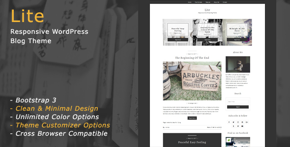 Lite - Responsive WordPress Blog Theme