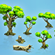Low poly forest trees - 3DOcean Item for Sale