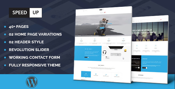 Speedup – Multipurpose Business Portfolio Responsive WordPress Theme Free Download