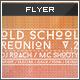 Flyer - Poster: Old School Reunion v2 - GraphicRiver Item for Sale