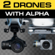 Quadcopters Flying Pack - VideoHive Item for Sale
