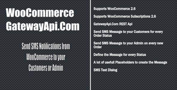 WooCommerce GatewayApi SMS Notifications