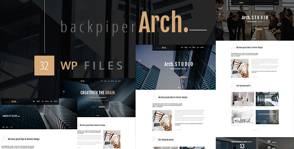 Backpiperarch - Architecture, Interior, Portfolio WordPress Theme