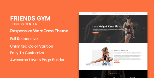 Friend Gym - Gym & Fitness WordPress Theme