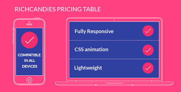 RichCandies Pricing Table