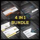 4 in 1 Business Card Bundle 01 - GraphicRiver Item for Sale