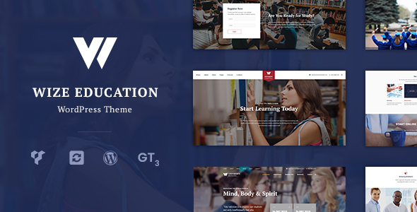 Download Education | Courses & Events LMS WordPress Theme – WizeEdu nulled 1